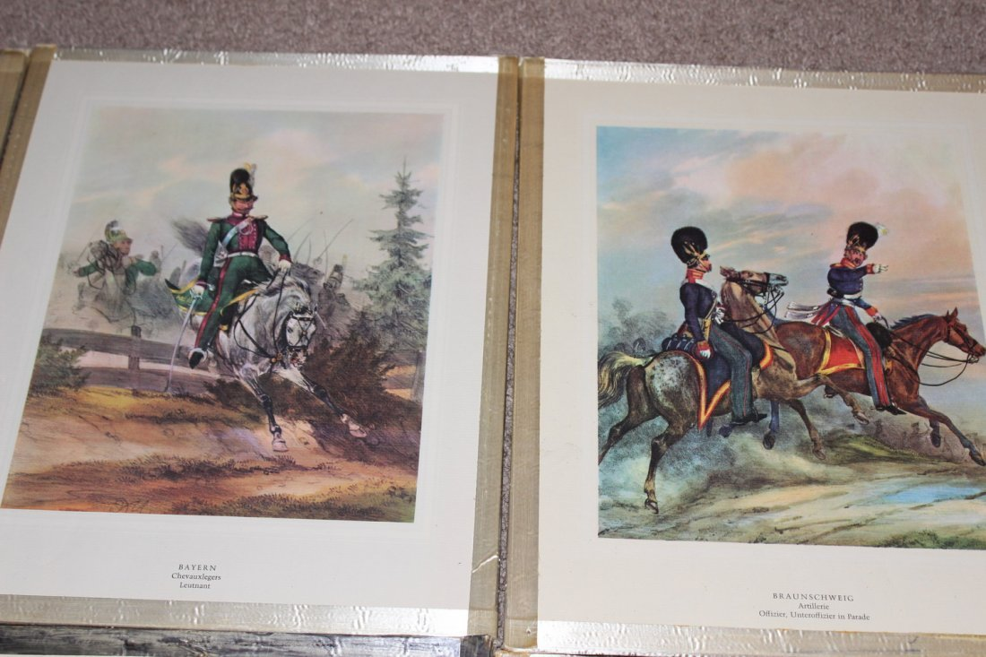 10 FRAMED MILITARY PLATES - VERY GOOD COND - 5
