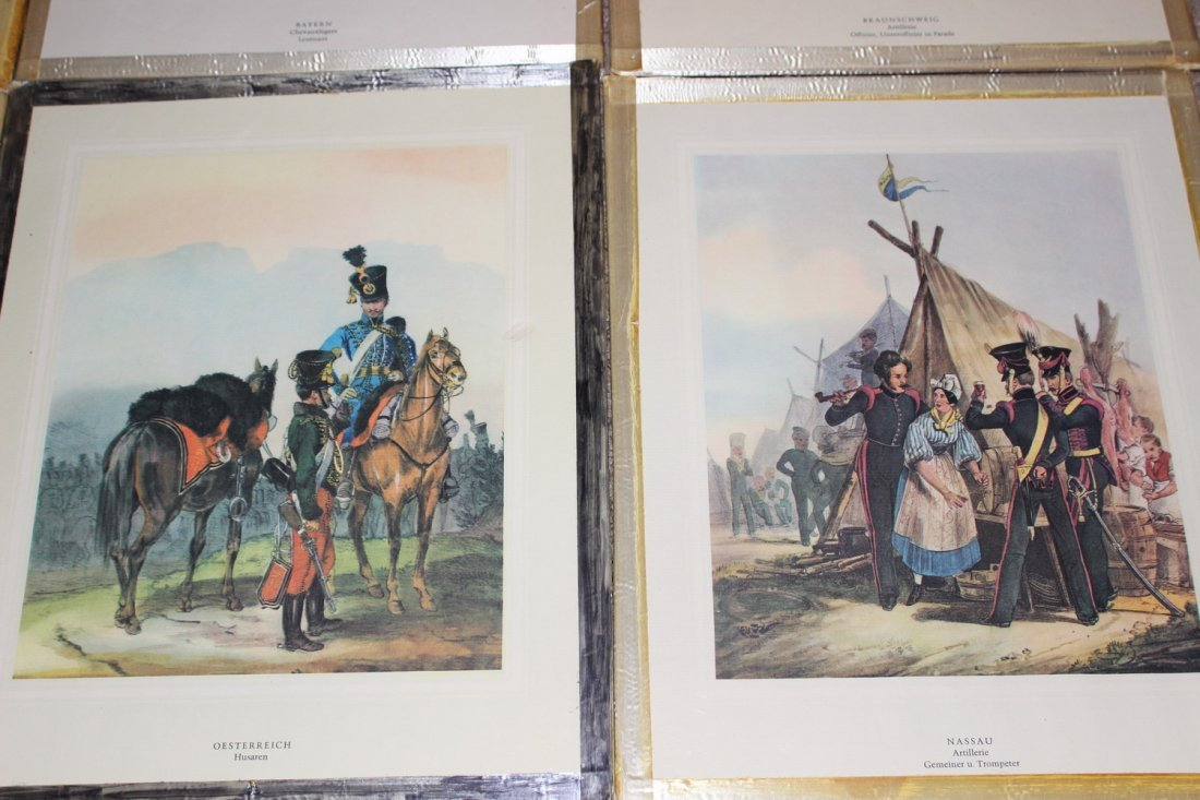 10 FRAMED MILITARY PLATES - VERY GOOD COND - 6