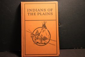 Exc. Book North Indians Of The Plains By Clark Wissler