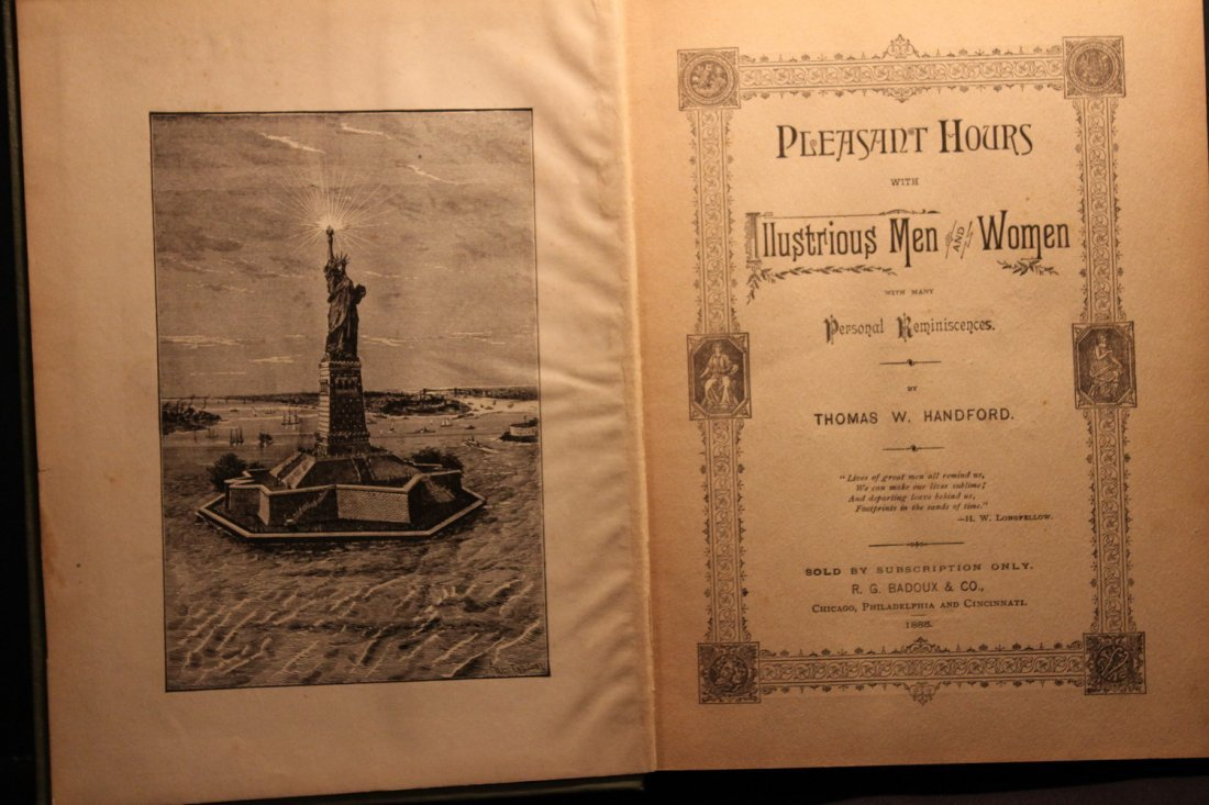 PLEASANT HOURS W/ ILLUSTRIOUS MEN & WOMEN 1885 BY - 3