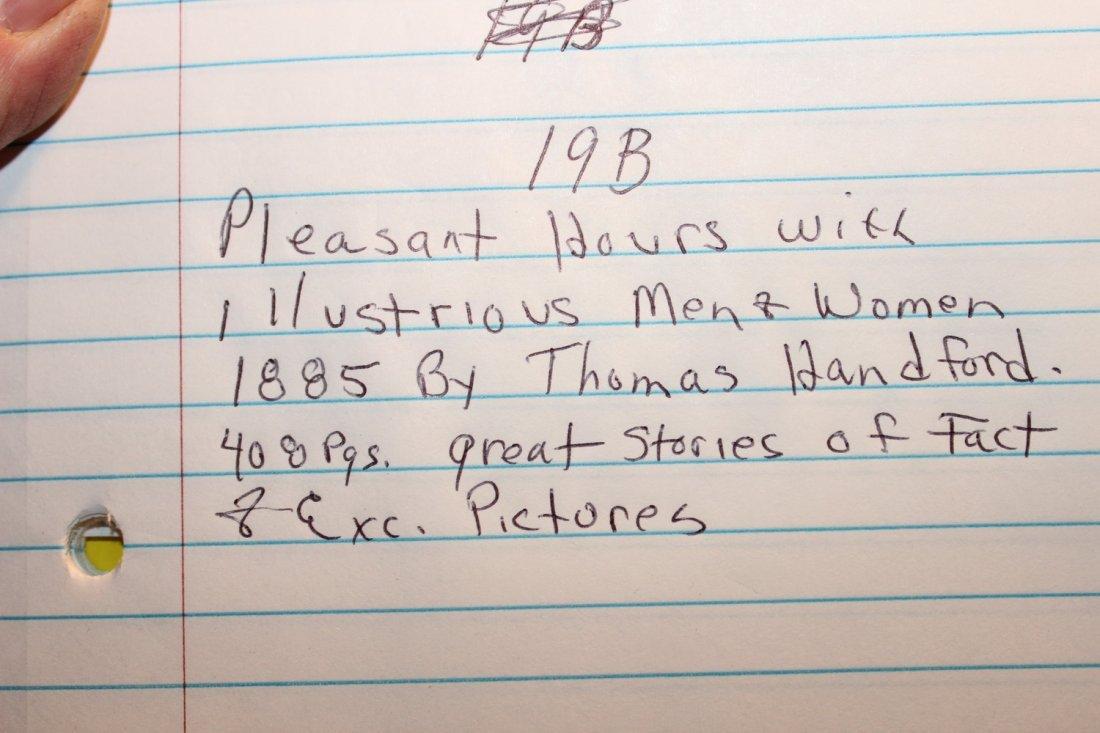 PLEASANT HOURS W/ ILLUSTRIOUS MEN & WOMEN 1885 BY - 9