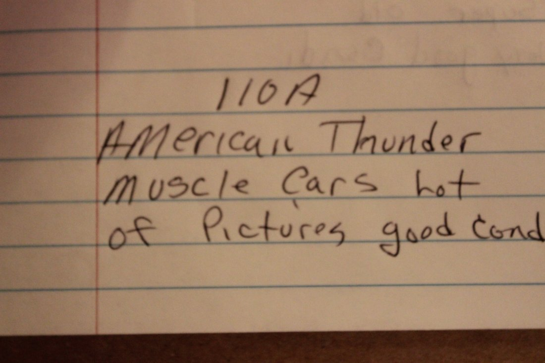 AMERICAN THUNDER MUSCLE CARS - LOT OF PICTURES - GOOD - 7