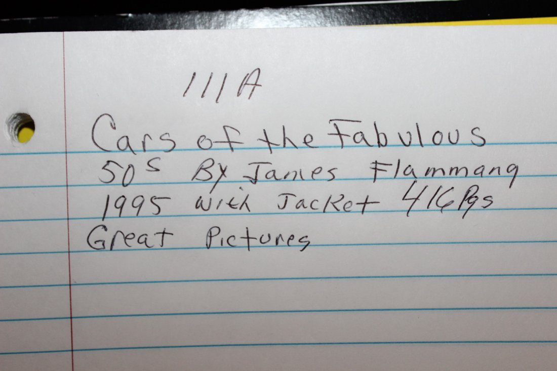 CARS OF THE FABULOUS 50'S BY JAMES FLAMMING 1995 WITH - 7