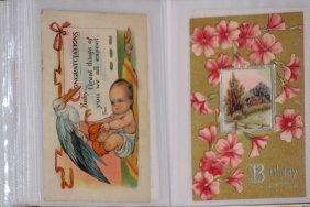 97 Very Nice Happy & Joyous Old Postcards In This Album