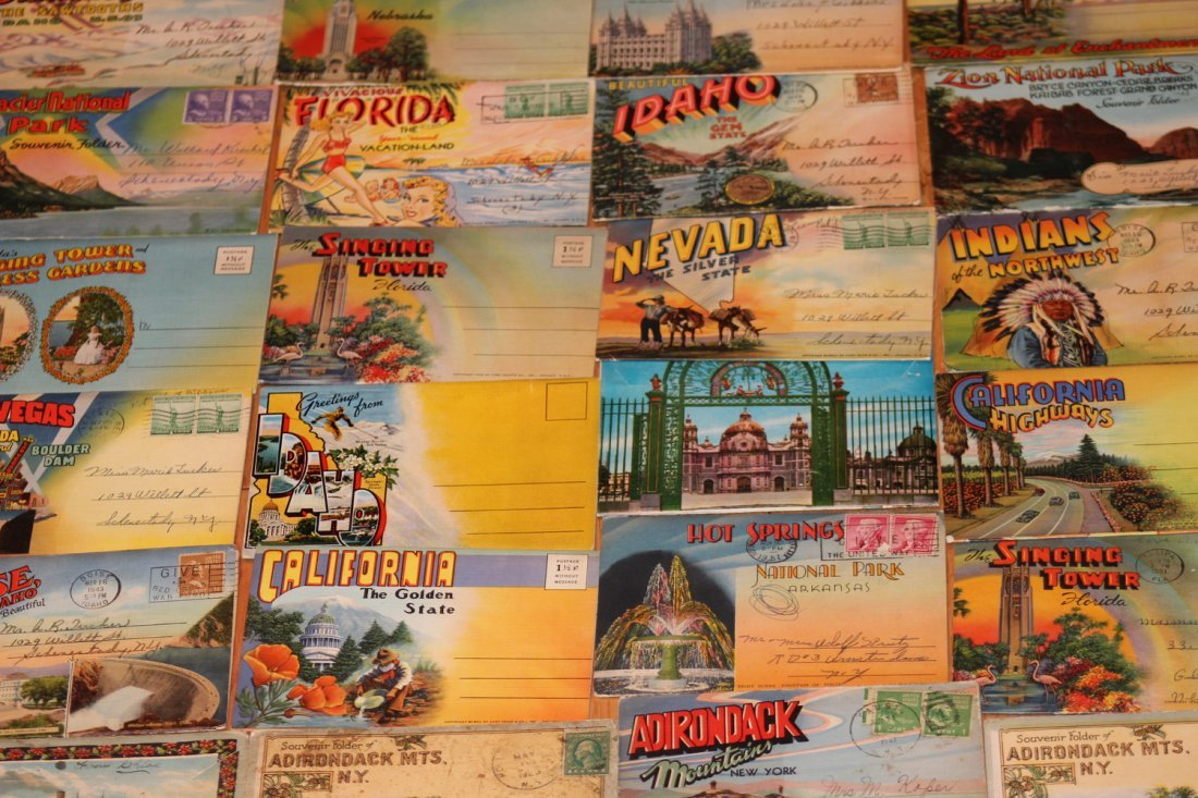 24 OLD POSTCARD FOLDERS - APPROX 500 VIEWS ALL GOOD - 2