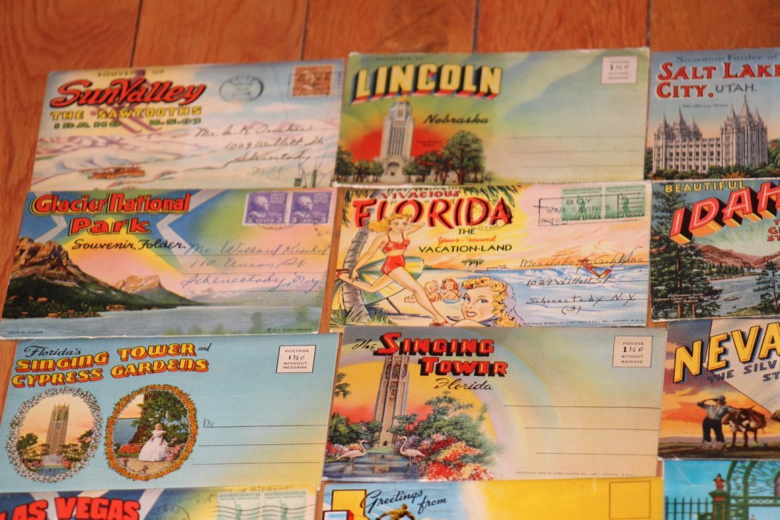 24 OLD POSTCARD FOLDERS - APPROX 500 VIEWS ALL GOOD - 3