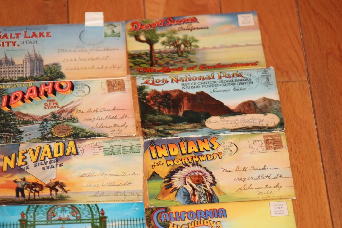 24 OLD POSTCARD FOLDERS - APPROX 500 VIEWS ALL GOOD - 4