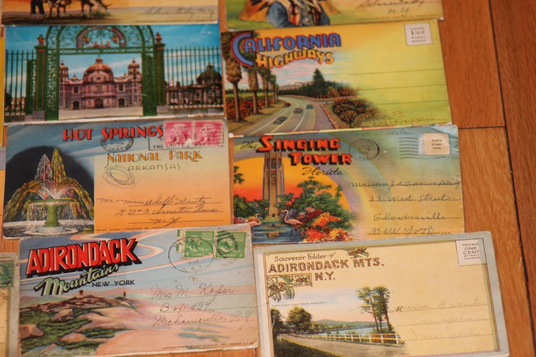 24 OLD POSTCARD FOLDERS - APPROX 500 VIEWS ALL GOOD - 5