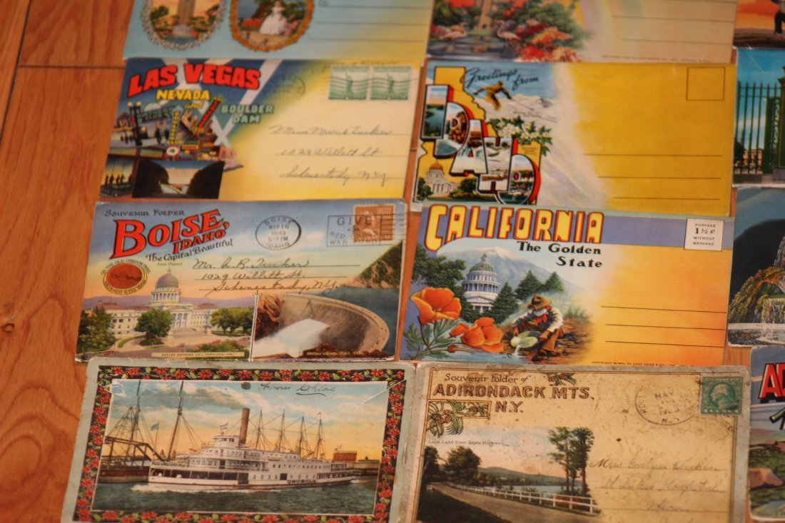 24 OLD POSTCARD FOLDERS - APPROX 500 VIEWS ALL GOOD - 6