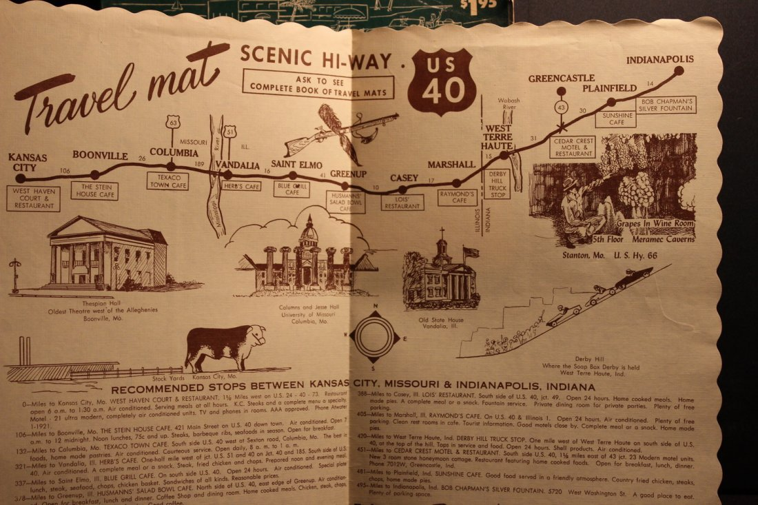 3 TRAVEL BOOKLETS 1956 RAND MCNALLY VACATION GUIDE - - 6