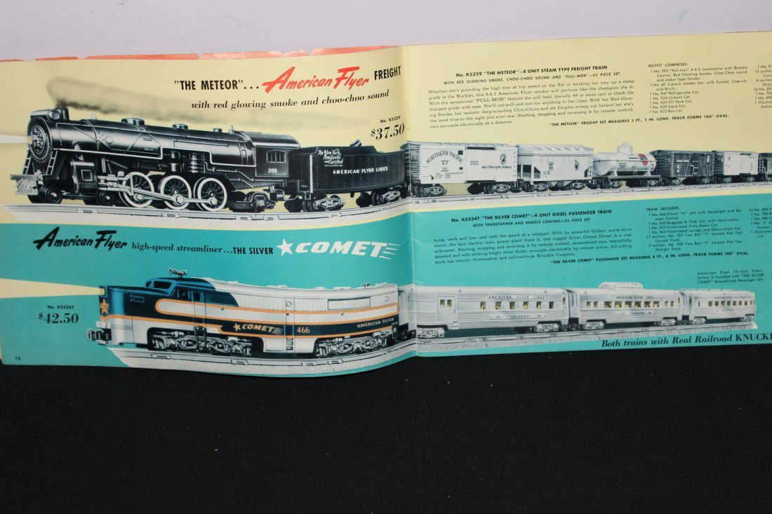 SUPER 51 PAGE AMERICAN FLYER TRAIN BOOKLET - GREAT - 3