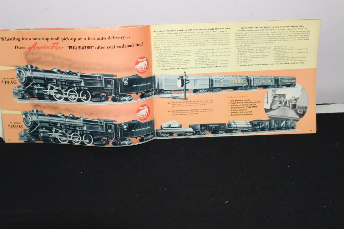 SUPER 51 PAGE AMERICAN FLYER TRAIN BOOKLET - GREAT - 4