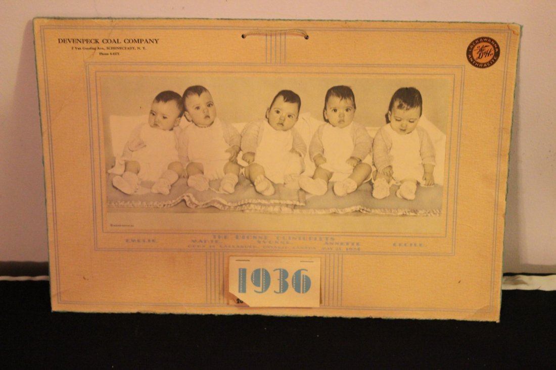 LOCAL INTEREST 1936 SCHENECTADY COAL CO. CALENDAR -