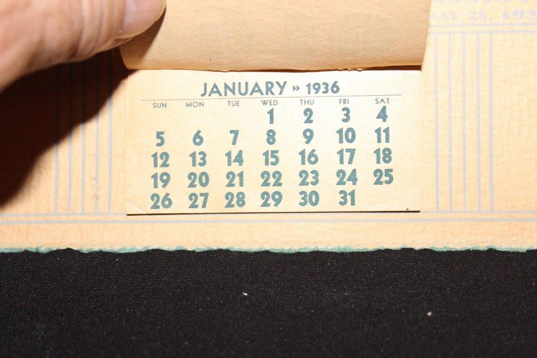 LOCAL INTEREST 1936 SCHENECTADY COAL CO. CALENDAR - - 4