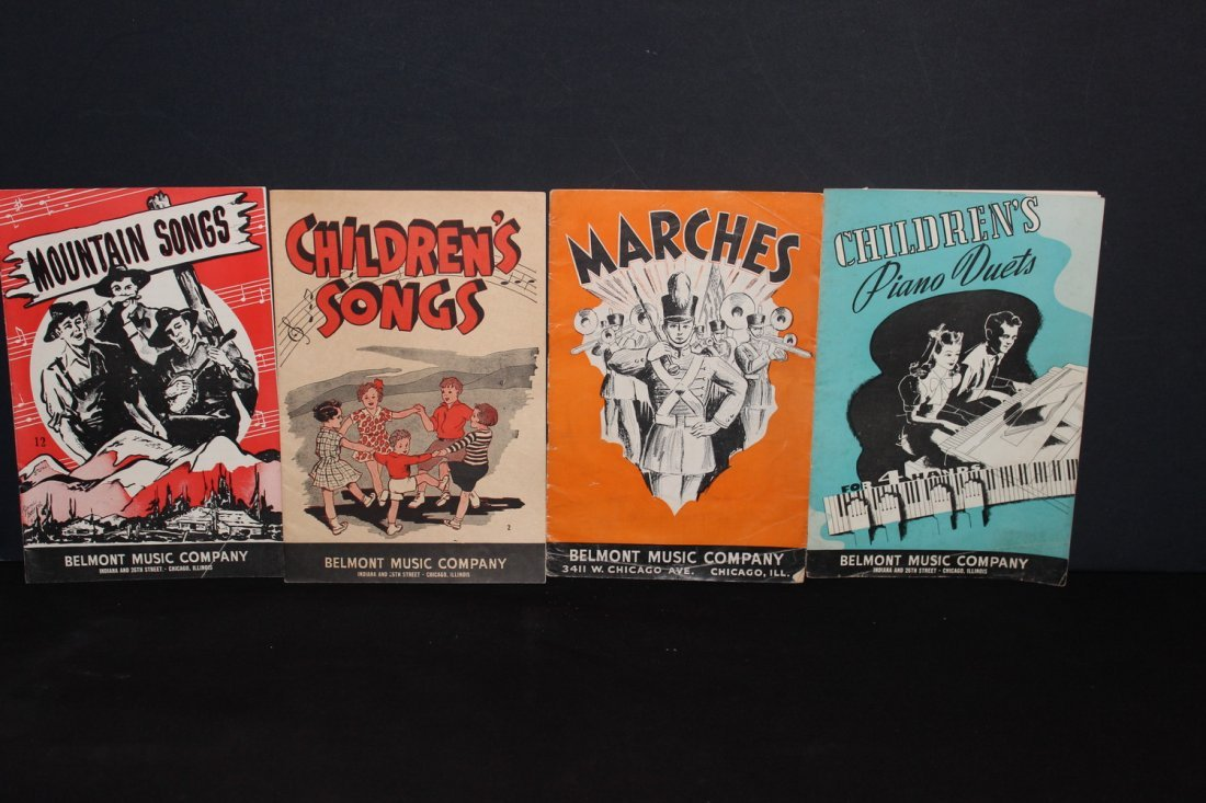 4 PAPER SONGBOOKS PUBLISHED BY BELMONT MUSIC CO. TWO