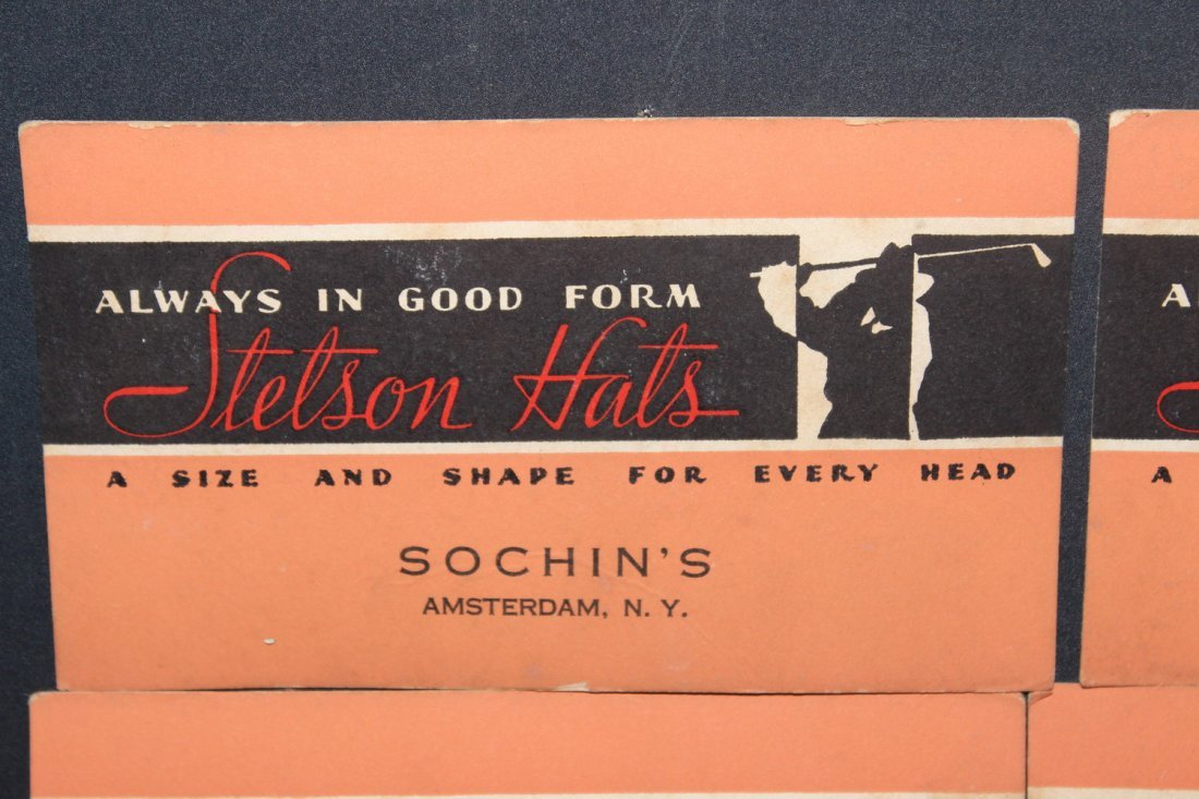 NEAT AND LOCAL SIX INK BLOTTERS FROM SOCHINS STETSON - 2