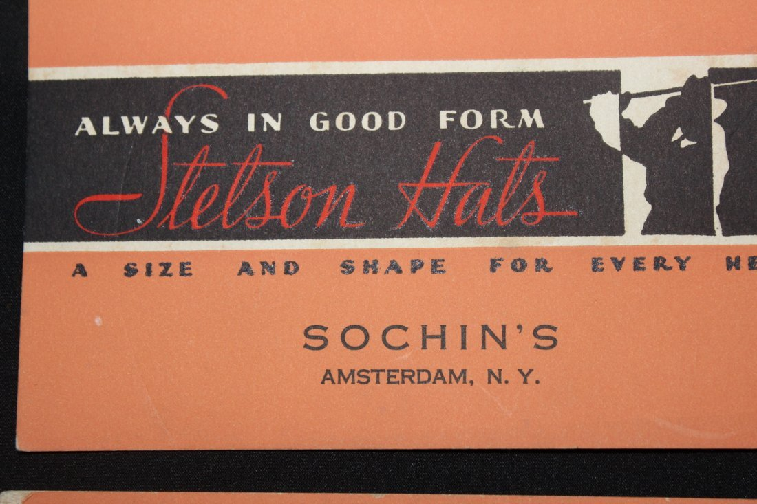 NEAT AND LOCAL SIX INK BLOTTERS FROM SOCHINS STETSON - 4