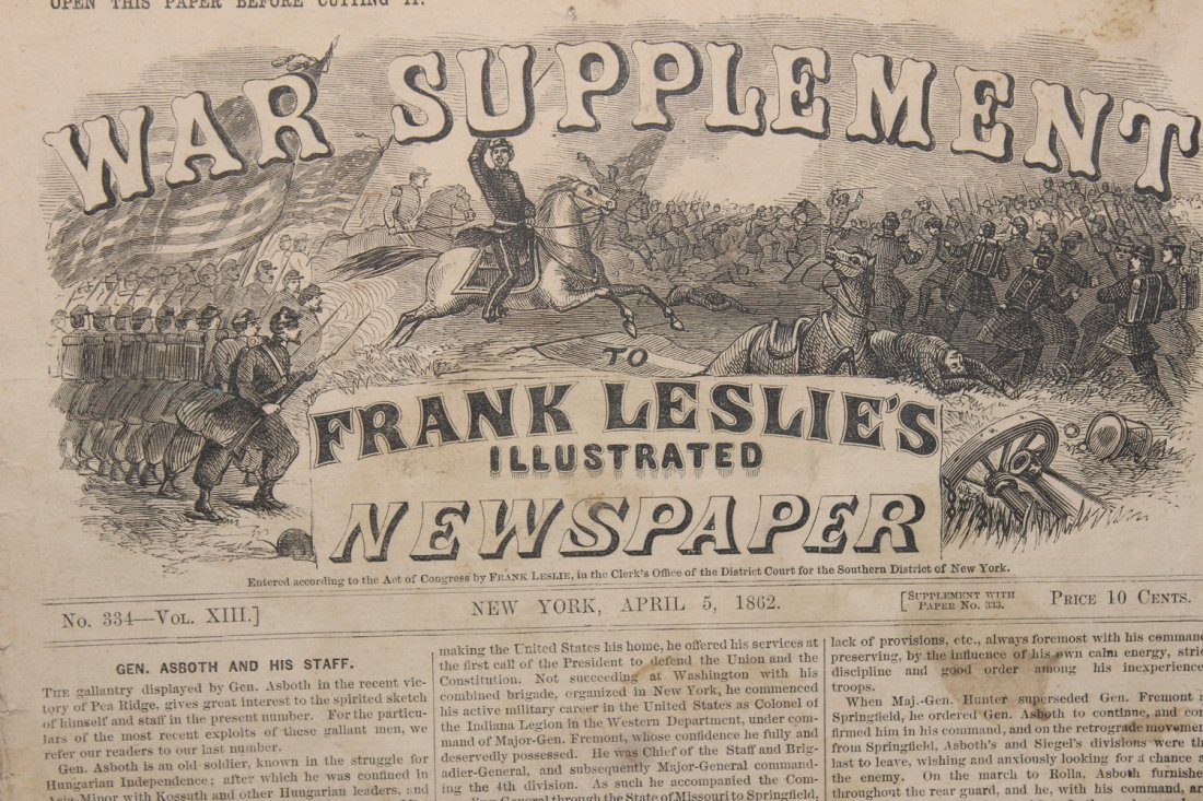 SUPER CIVIL WAR NEWSPAPER WITH GREAT STORIES AND PHOTOS