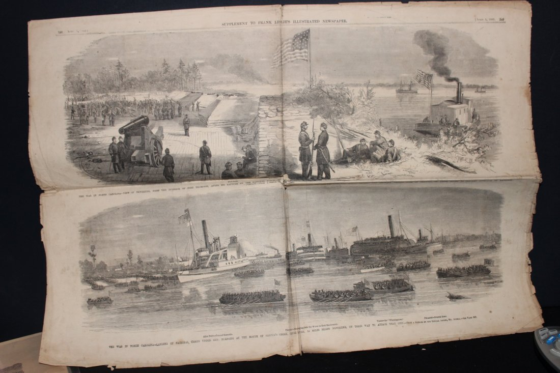SUPER CIVIL WAR NEWSPAPER WITH GREAT STORIES AND PHOTOS - 6