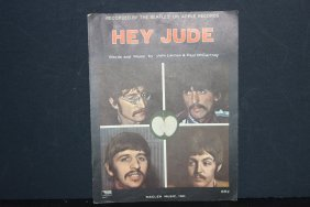 The Beatles Hey Jude Sheet Music 1968 Words And Music