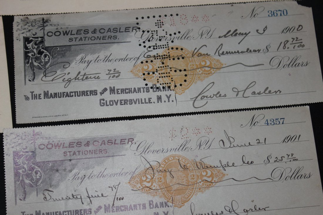 LOCAL INTEREST 13 LATE 1800S IN 1900S CASHED CHECKS - 3