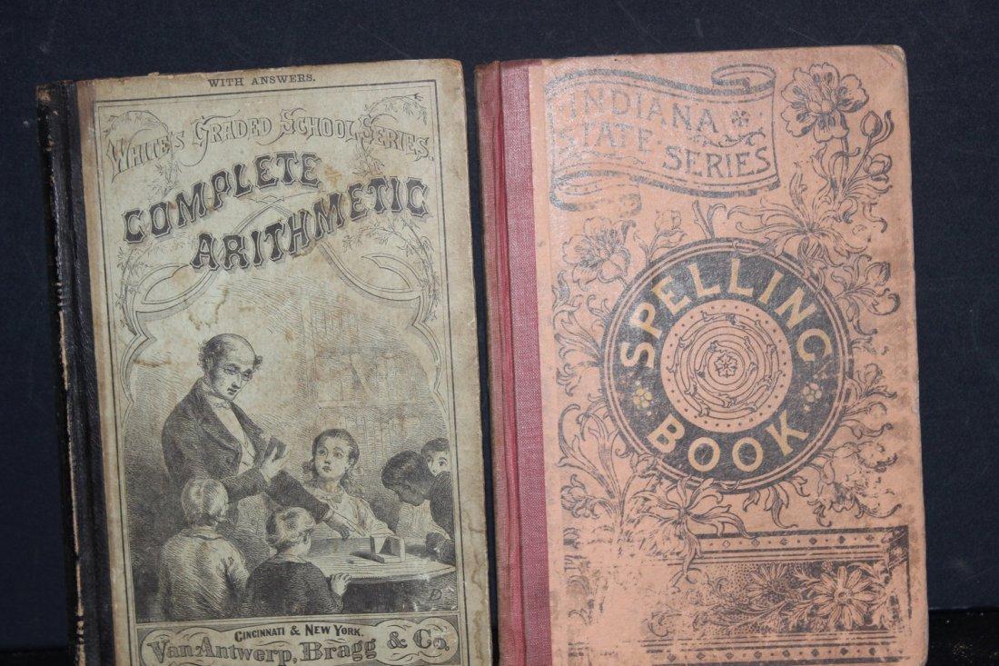 2 NICE OLD SCHOOLBOOKS COMPLETE ARITHMETIC 1870