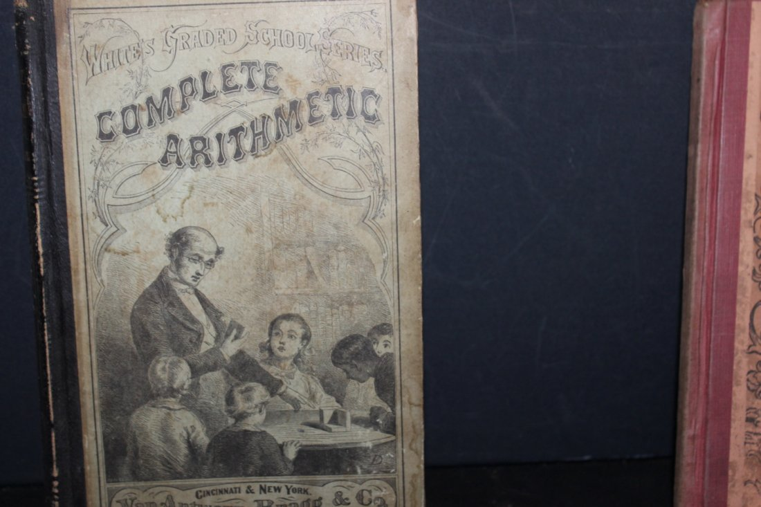 2 NICE OLD SCHOOLBOOKS COMPLETE ARITHMETIC 1870 - 2
