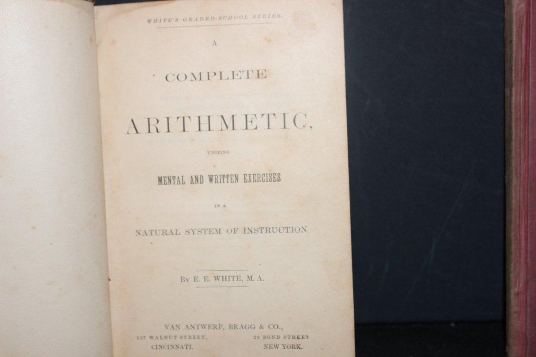 2 NICE OLD SCHOOLBOOKS COMPLETE ARITHMETIC 1870 - 4