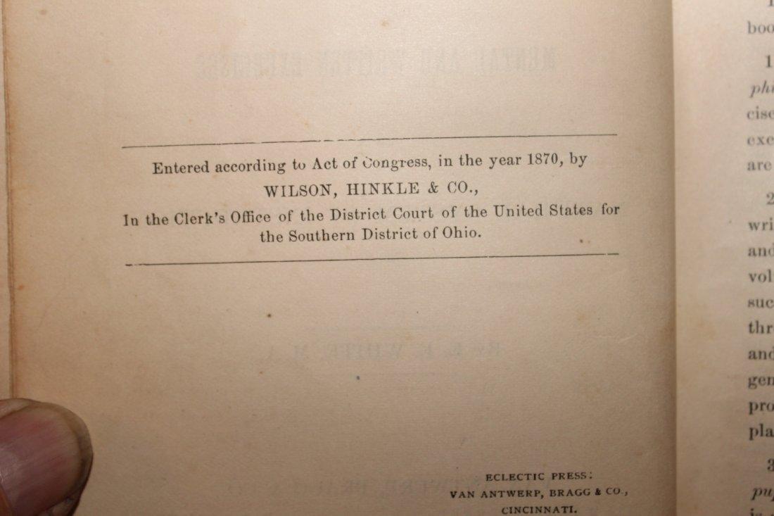 2 NICE OLD SCHOOLBOOKS COMPLETE ARITHMETIC 1870 - 5
