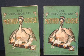 2 Children's Mother Goose 20 Page Paper Booklets By