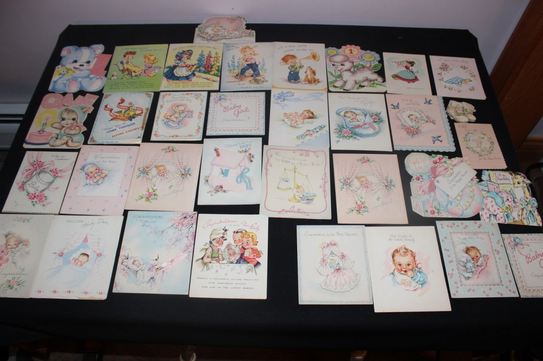 60 PLUS BABY GREETING CARDS FRO MTHE 60'S - VERY NICE &