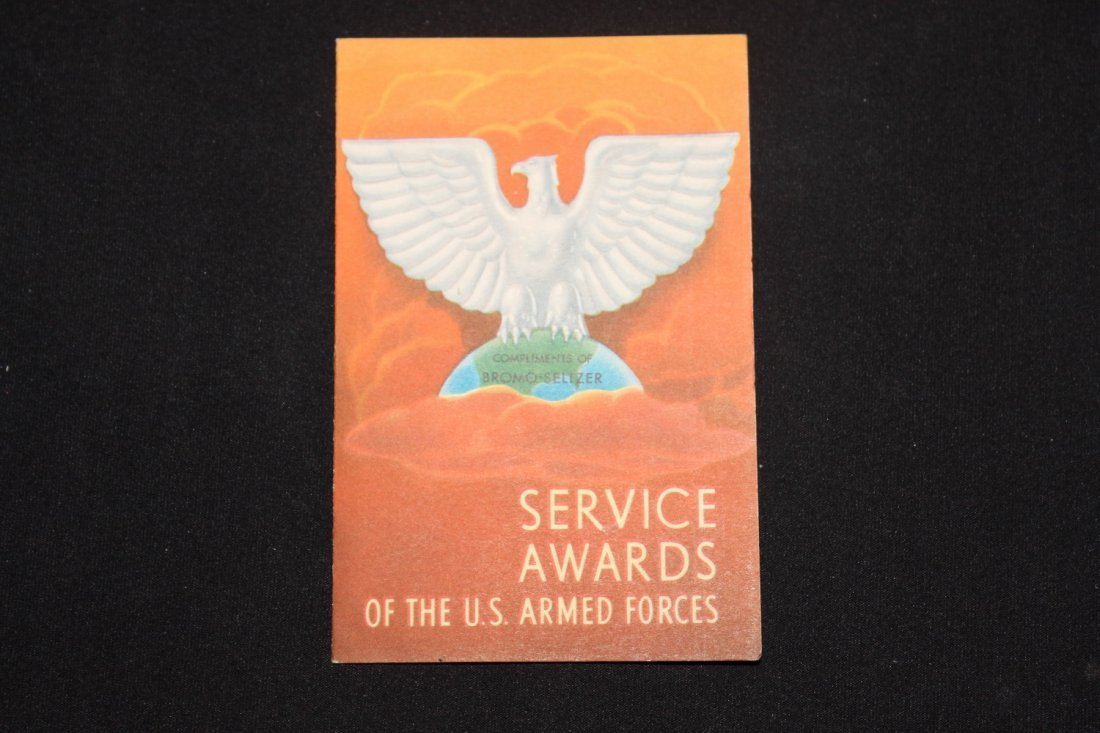 SUPER MILITARY PAMPHLET ENTITLED SERVICE AWARDS OF THE