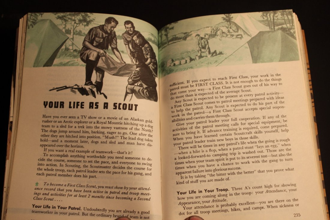 1965 ISSUE BOY SCOUTS HANDBOOK - 448 PGS. - SOFT COVER - 2