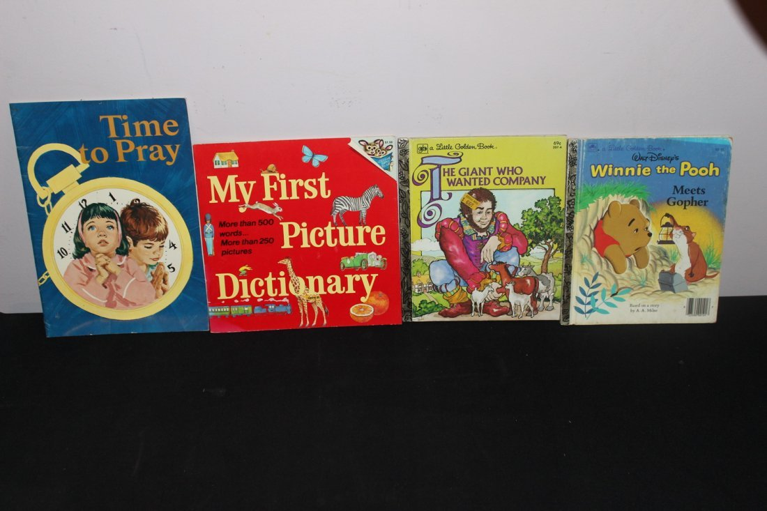 4 NICE CHILDRENS BOOKS - ALL GOOD COND.