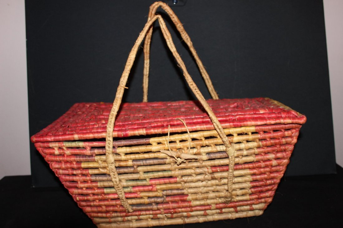 I BELIEVE THIS PICNIC BASKET WAS BY NOOTKA OR MAKAH
