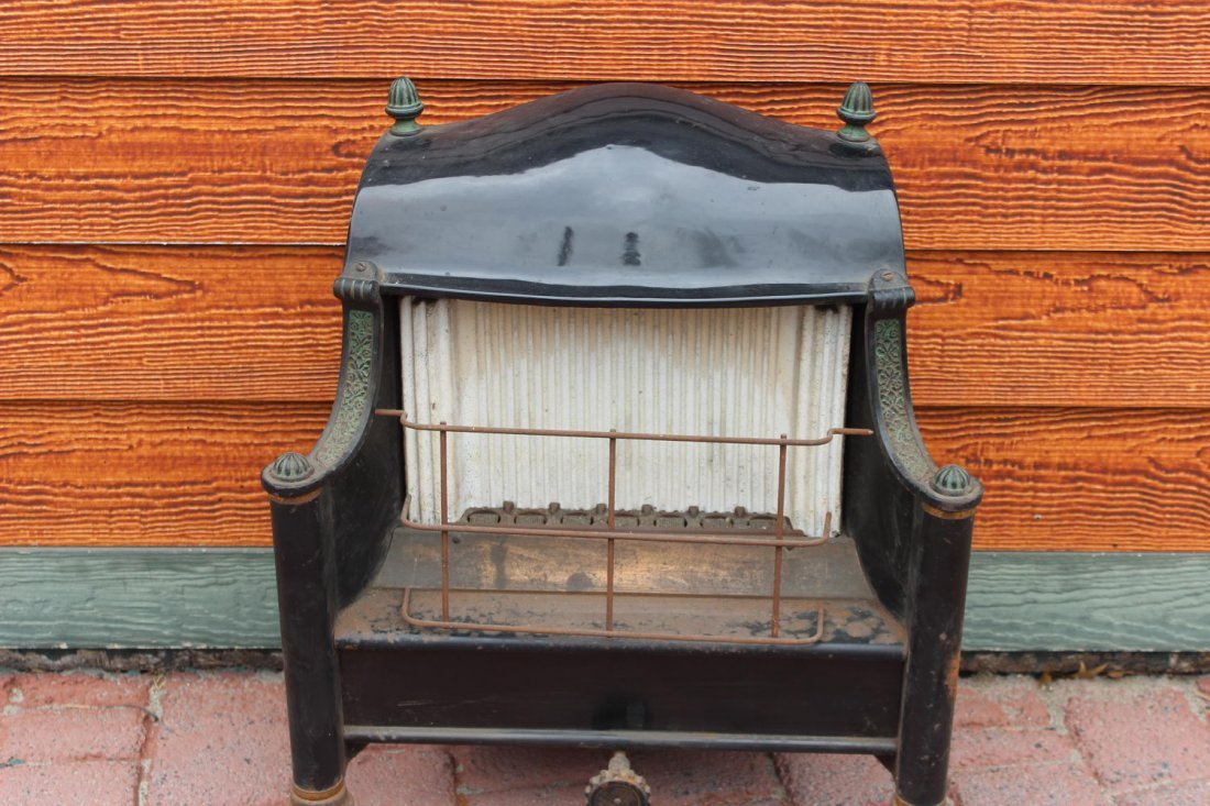 1920 FIREPLACE GAS BURNER COMPLETE GOOD CONDITION FIRE