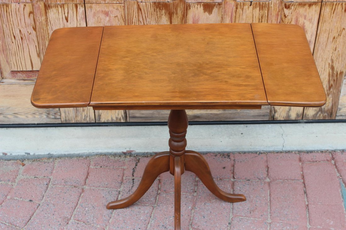 LOVELY MAPLE MINIATURE DROP LEAF TABLE WITH FOUR LEGS