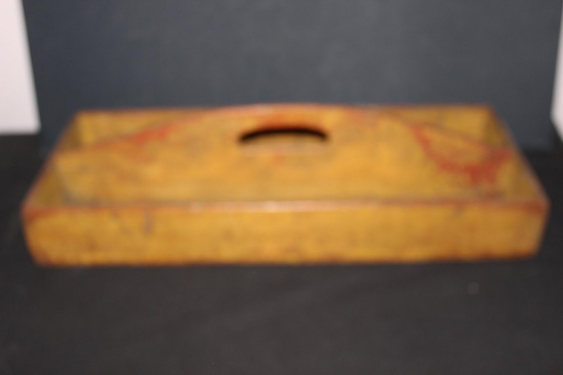 VERY NICE EARLY CARPENTERS TRAY IN OLD PAINT AND GOOD