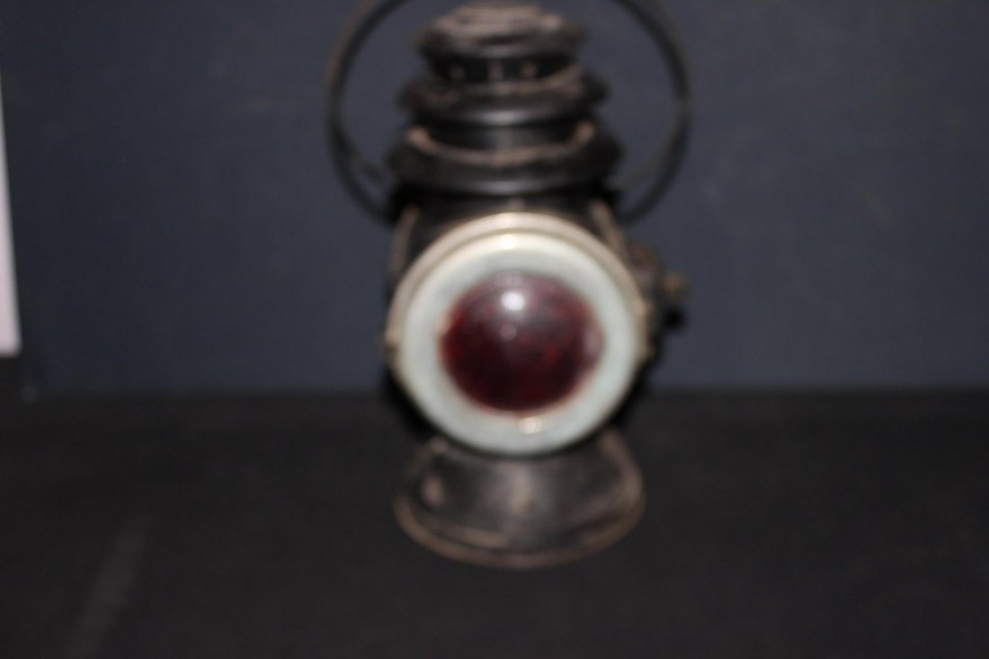 EARLY RAYO DRIVING KERO LAMP CLEAR GLASS LENS FRONT RED