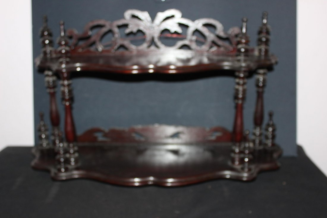 EXCELLENT WALNUT 2 SHELF WALL HANGING WHATNOT EXCELLENT
