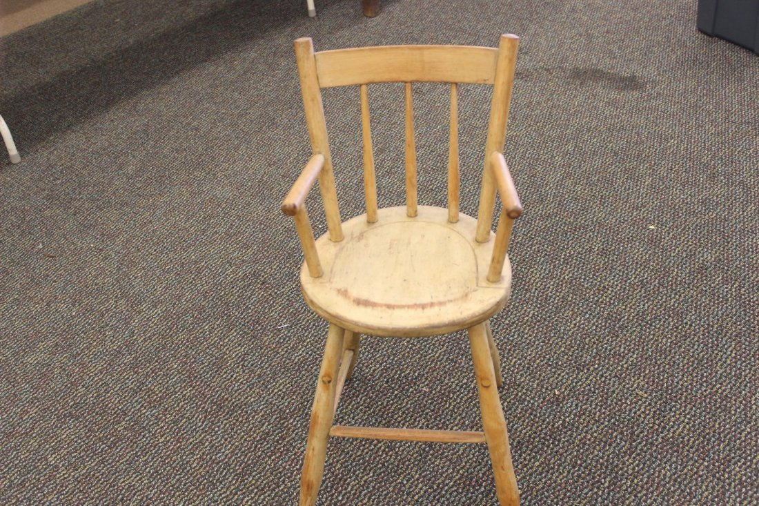 HAND MADE CHILDS CHAIR IN THE STYLE OF AN ARROW BACK