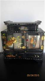 GREAT HAND PAINTED JEWELRY BOX WITH DANCING GIRL MUSIC