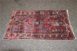 NICE ORIENTAL RUG - THICK PILE - GREAT COLORS - 48.5 X