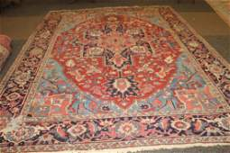 GREAT COLORS TO THIS ORIENTAL RUG - FEW WEAR SPOTS BUT