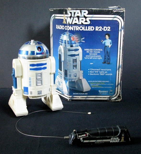 STAR WARS RADIO CONTROLLED R2-D2 ROBOT TOY Vintage