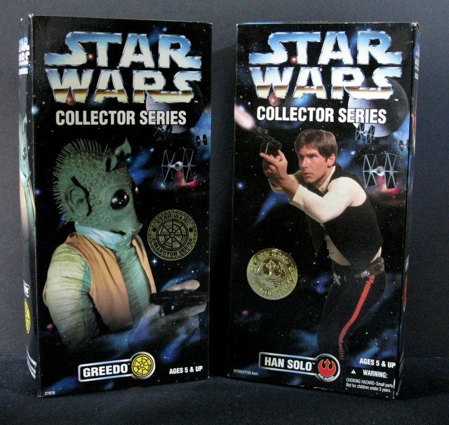 STAR WARS COLLECTOR SERIES GREEDO & HAN SOLO FIGURE LOT