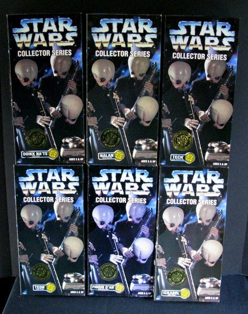 STAR WARS COLLECTOR SERIES CANTINA BAND - All 6 alien
