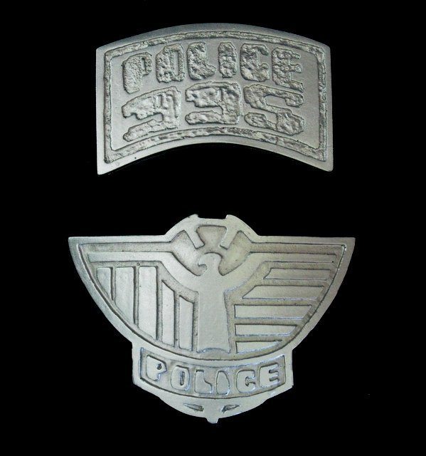 BLADE RUNNER POLICE BADGES - RARE MOVIE PROP RESIN