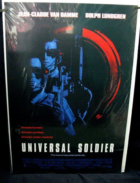 "UNIVESAL SOLDIER - 1992  One Sheet Movie Poster - 27""x"