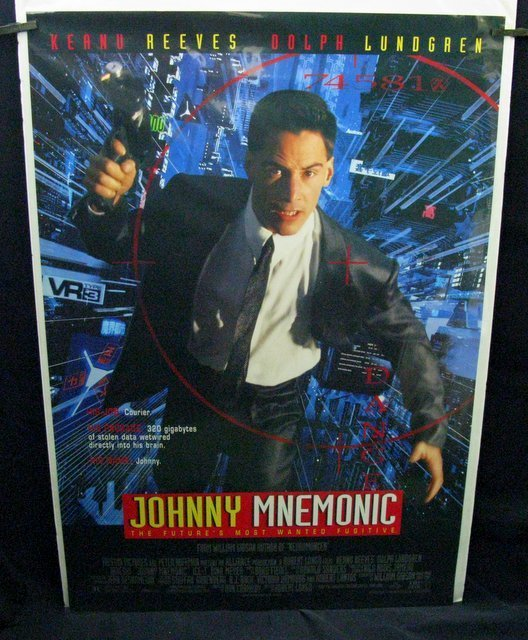 "JOHNNY MNEUMONIC - 1995 One Sheet Movie Poster - 27""x"